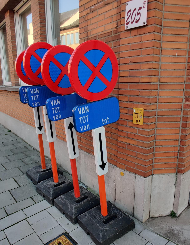 Parkeerborden huren in Gent